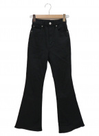 moussy(マウジー)の古着「HIGH WAIST EMOTION FLARE」 ブラック