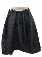 COMME des GARCONS(コムデギャルソン)の古着「デザインキルティングスカート」|ブラック