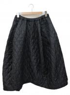 COMME des GARCONS(コムデギャルソン)の古着「デザインキルティングスカート」 ブラック