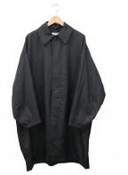 FREAK'S STORE(フリークスストア)の古着「オーバーサイズステンカラーコート」|ブラック