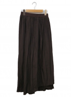 emmi atelier(エミアトリエ)の古着「プリーツスカート」|ブラウン