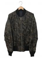 ()の古着「リバーシブルMA-1ジャケット」|ブラック×カーキ