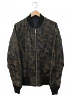 ALPHA(アルファ)の古着「リバーシブルMA-1ジャケット」|ブラック×カーキ