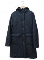 ()の古着「キルティングコート」|ネイビー