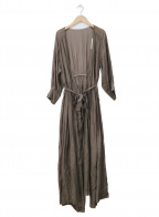 ROPE(ロペ)の古着「キュプラコットンローンカシュクールワンピース」|ブラウン