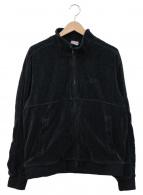 ()の古着「Velour Track Jacket BLACK」 ブラック