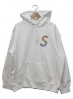 ()の古着「swarovski s logo hooded sweats」 ホワイト