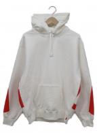 ()の古着「big logo hooded sweatshirt」 ホワイト