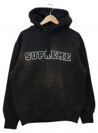 ()の古着「patchwork hooded sweatshirt」 ブラック