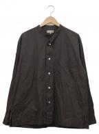 MARGARET HOWELL()の古着「OVERSIZED COLLARLESS SHIRT」|チャコールグレー