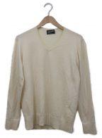 Drumohr(ドルモア)の古着「Vネックウールニット」|アイボリー
