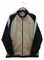 FRED PERRY(フレッドペリー)の古着「トラックジャケット」|ベージュ×ブラック