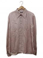 GUCCI()の古着「シルクシャツ」 ピンク