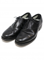 foot the coacher(フットザコーチャー)の古着「SINGLE EYELET LEATHER S」 ブラック