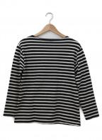 SAINT JAMES(セントジェームス)の古着「バスクシャツ」 ブラック×ホワイト
