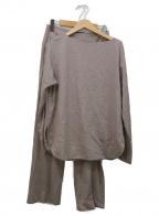 Mila Owen(ミラオーウェン)の古着「バックスリットデザインセットアップ」 グレー