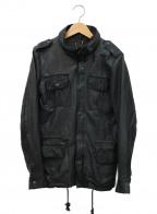 sisii(シシ)の古着「M65レザージャケット」|ブラック