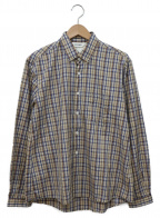 digawel(ディガウェル)の古着「チェックシャツ」|ベージュ×ネイビー
