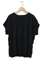 me ISSEY MIYAKE(ミー イッセイミヤケ)の古着「シワ加工カットソー」|ブラック