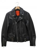 ROSSO(ロッソ)の古着「レザーライダースジャケット」 ブラック