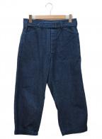 COMOLI()の古着「ベルッテッドデニムパンツ」|インディゴ