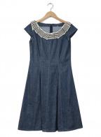 MS GRACY(エムズグレイシー)の古着「ブラウスワンピース」|インディゴ