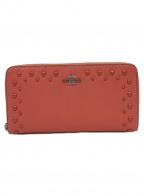 COACH()の古着「ラウンドジップ長財布」|ピンク