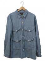 BEAMS PLUS(ビームスプラス)の古着「シャンブレーフィッシングジャケット」|ブルー
