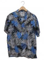 FACTOTUM(ファクトタム)の古着「アロハシャツ」|ブルー×ブラック