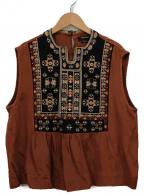 ISABEL MARANT(イザベルマラン)の古着「刺繍ブラウス」|ブラウン