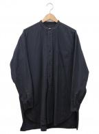 COMOLI(コモリ)の古着「ベタシャンバンドカラールーズシャツ」|グレー