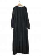 emmi atelier(エミアトリエ)の古着「ワッシャーロングワンピース」|ブラック