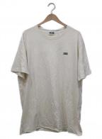 KITH(キス)の古着「スモールボックスロゴTシャツ」 アイボリー×グリーン