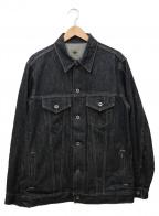 POST O'ALLS(ポストオーバーオールズ)の古着「ビッグデニムジャケット」|インディゴ