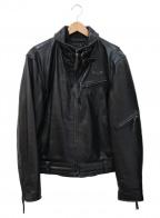 Liugoo Leathers(リューグーレザーズ)の古着「カウレザージャケット」 ブラック
