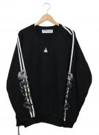 LEGENDA(レジェンダ)の古着「Two Line Rose Embroidery Sweat」 ブラック