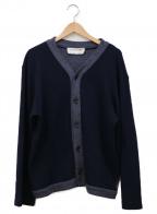 COMME des GARCONS SHIRT(コムデギャルソンシャツ)の古着「Vネックカーディガン」|ネイビー×グレー