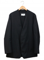Martin Margiela 10(マルタンマルジェラ 10)の古着「ノーカラーポプリンジャケット」|ブラック