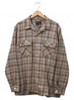 PENDLETON(ペンドルトン)の古着「オープンカラーチェックネルシャツ」|ベージュ×グレー