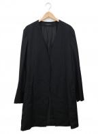 YohjiYamamoto pour homme(ヨウジヤマモトプールオム)の古着「ノーカラーロングコート」|ブラック