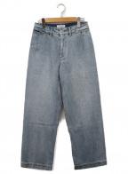 SLOBE IENA(スローブ イエナ)の古着「デニムバギーパンツ」|スカイブルー