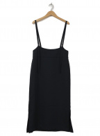 allureville(アルアバイル)の古着「ソリビアツイルサロペットナロースカート」|ブラック