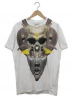MARCELO BURLON(マルセロバーロン)の古着「プリントTシャツ」|ホワイト×イエロー