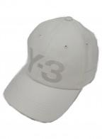 Y-3(ワイスリー)の古着「ロゴ刺繍キャップ」|アイボリー