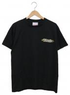 ()の古着「プリントTシャツ」 ブラック×イエロー
