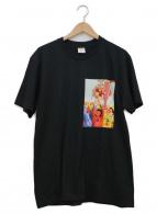 ()の古着「コラボプリントTシャツ」|ブラック×レッド