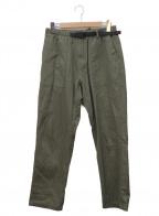 GRAMICCI(グラミチ)の古着「ワイドテーパードクライミングパンツ」|グリーン