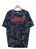 KENZO(ケンゾー)の古着「クルーネックカットソー」|ネイビー×ホワイト