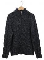 ()の古着「ニットジャケット」 ブラック