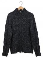 Settefili Cashmere(セッテフィーリ カシミア)の古着「ニットジャケット」 ブラック